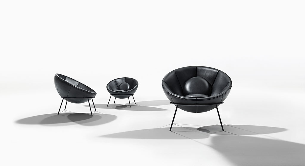 H+R   Arper > Bowl Chair