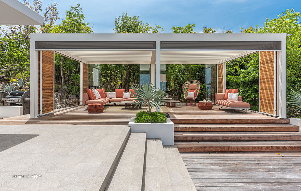 H+R | Kettal > Case Study - Villa Palm Springs in St Barts, French West Indies